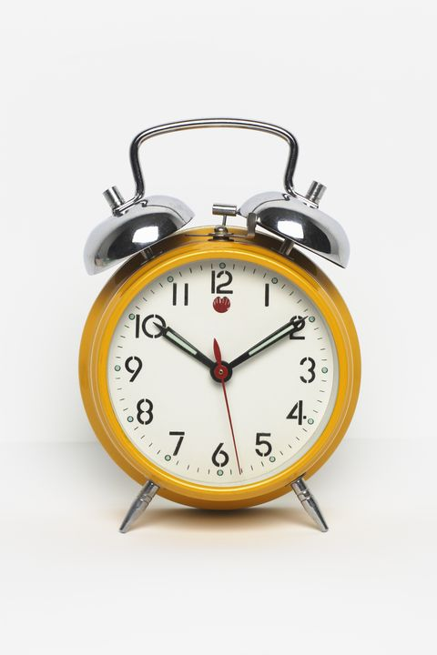 """<p>""""The best way to start getting to bed earlier is to start getting up earlier every day of the week. Set your alarm for something reasonable—don't plan to shift from getting up at 8:30 a.m. to getting up at 5:00 a.m. all at once. Try setting your alarm 30 minutes earlier for a week before moving it earlier again. <strong>No snoozing allowed.</strong> Once your body adjusts to waking earlier, you will naturally become <span class=""""highlight"""">sleep</span>y earlier at night."""" </p><p><br></p><p>Maintaining this sleep schedule despite the ebbs and flows of your weekend plans (AKA drinking) might seem like a big ask, but the National Sleep Foundation <a href=""""https://sleepfoundation.org/sleep-tools-tips/healthy-sleep-tips"""" target=""""_blank"""">recommends</a> that you stick to it to keep your body clock on track. </p>"""