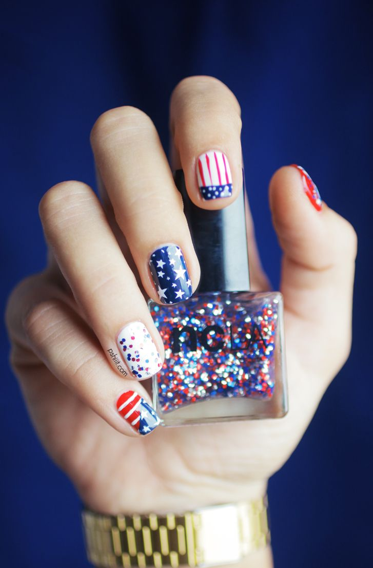 22 Best 4th Of July Nail Art Designs Cool Ideas For Patriotic Fourth Nails