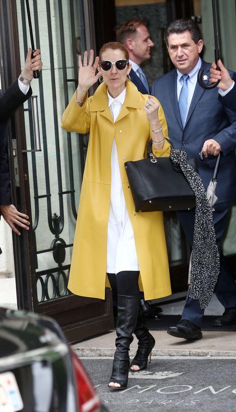 Clothing, Footwear, Coat, Trousers, Dress shirt, Shirt, Standing, Outerwear, Collar, Sunglasses,