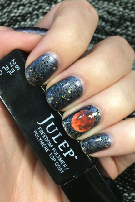 Blood Moon Halloween Nail Art Ideas - 41 Halloween Nail Art Ideas - Easy Halloween Nail Polish Designs