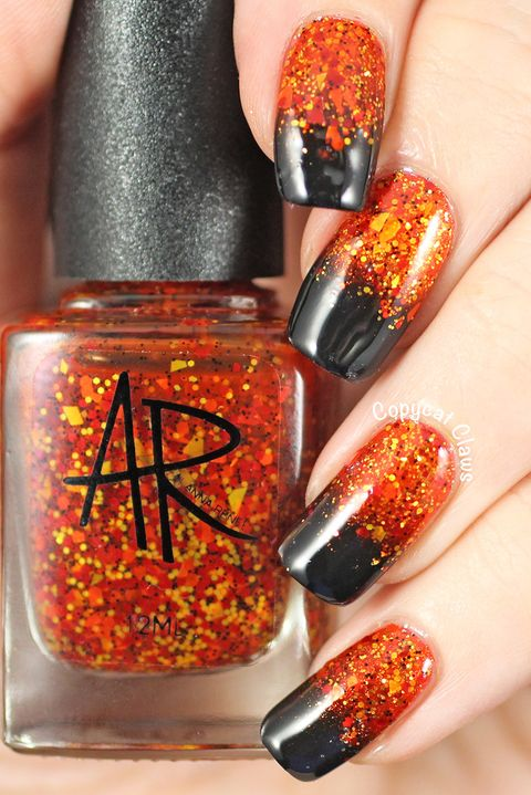 gradient halloween nail art designs - 41 Halloween Nail Art Ideas - Easy Halloween Nail Polish Designs