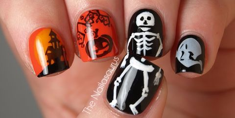 halloween nail art designs - 41 Halloween Nail Art Ideas - Easy Halloween Nail Polish Designs