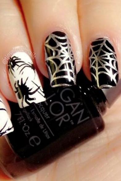 41 Halloween Nail Art Ideas Easy Halloween Nail Polish Designs