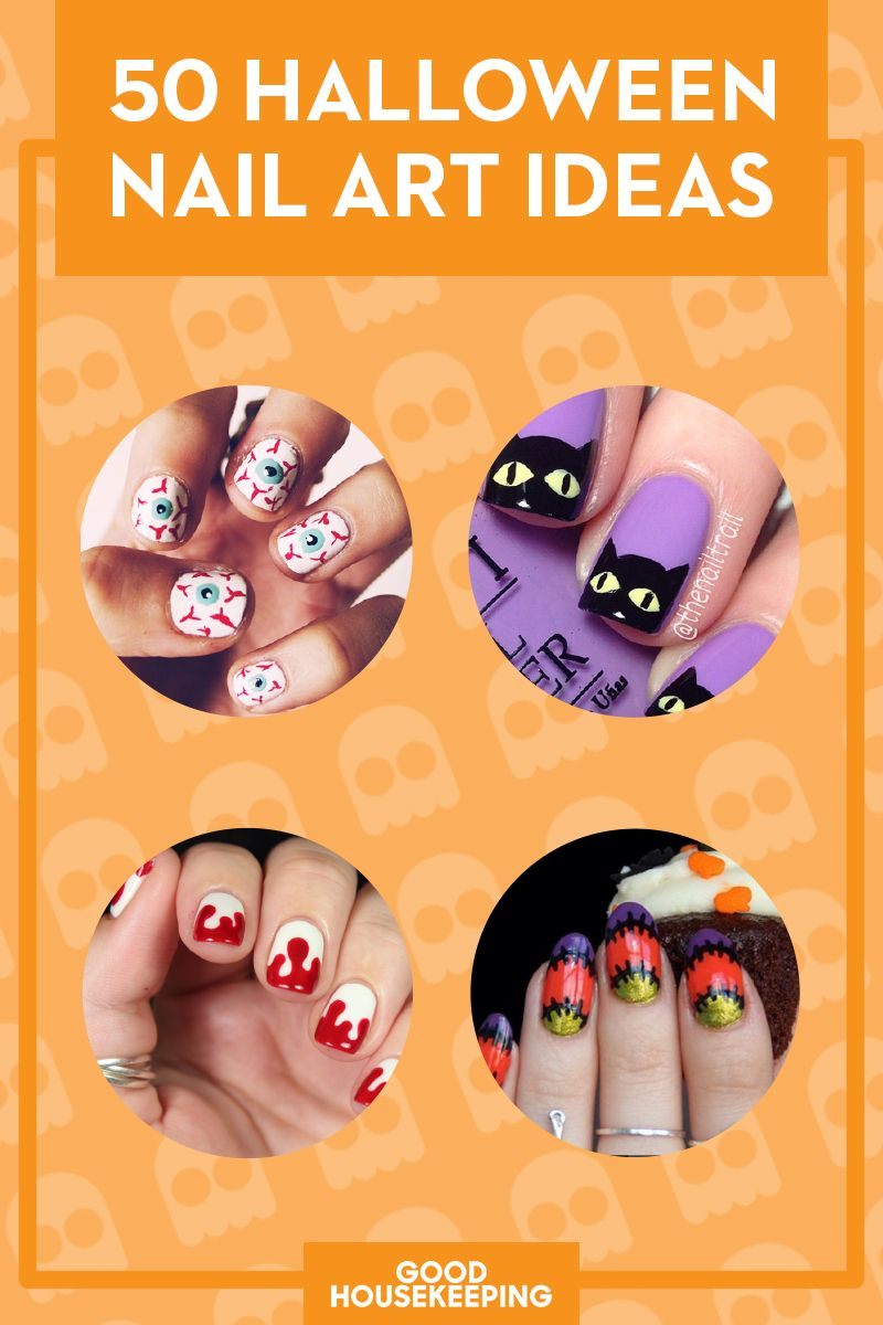 40 Halloween Nail Art Ideas - Easy Halloween Nail Polish Designs