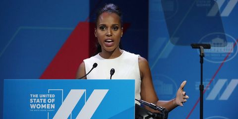 WASHINGTON, DC - JUNE 14: Actress Kerry Washington speaks during the White House Summit on the United State Of Women June 14, 2016 in Washington, DC. The White House hosts the first ever summit to push for gender equality.