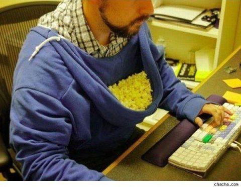 sweatshirt popcorn hack
