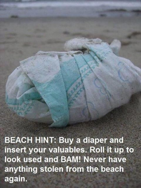 beach valuables hack