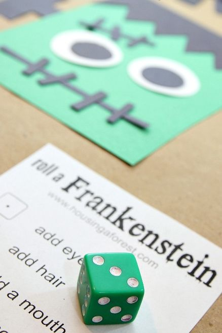 roll a frankenstein halloween game