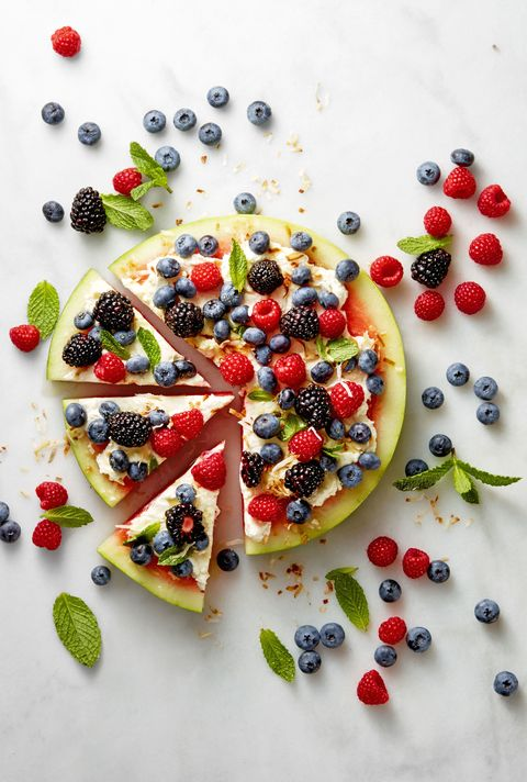 4th of July Desserts - Watermelon Pizza