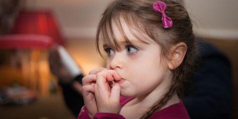 girl nail biting