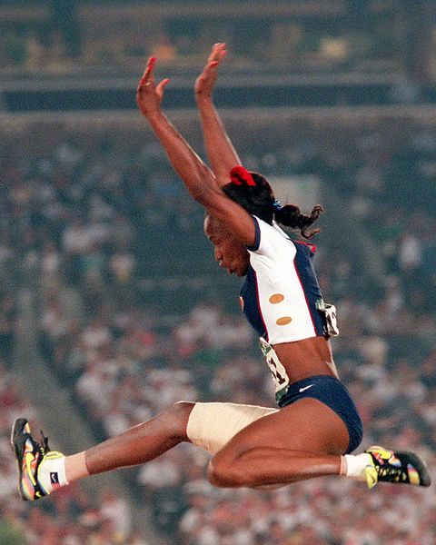 b24592175e0 United States track and field star Jackie Joyner-Kersee jumps to 22 feet
