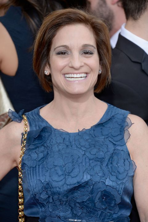 JANUARY 12: 71st ANNUAL GOLDEN GLOBE AWARDS -- Pictured: Gymnast Mary Lou Retton arrives to the 71st Annual Golden Globe Awards held at the Beverly Hilton Hotel on January 12, 2014 -- (Photo by Kevork Djansezian/NBC/NBC via Getty Images)