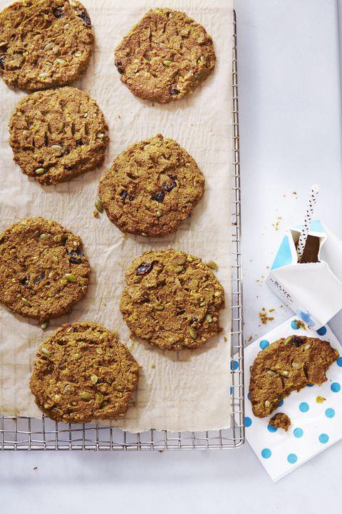 healthy cookies   pumpkin cherry breakfast cookies