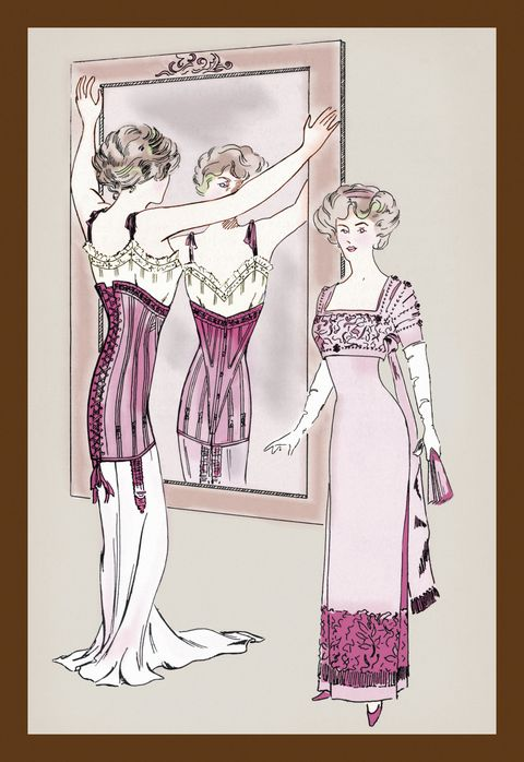 <p>Where else is there to start but with the corset? The column dresses of early 1800s made long-line corsets a popular choice among women—which begs the question, how did they manage to sit down in these? </p>