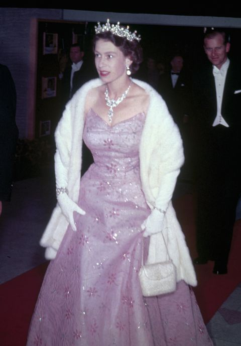 <p>Queen Elizabeth was all about the ball gowns and the bling back in the day.</p>