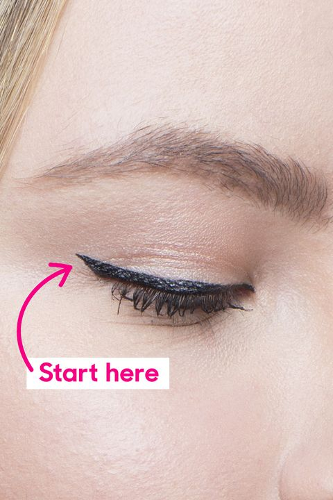 How To Apply Cat Eyeliner On Hooded Eyes Winged Liner Tutorial For
