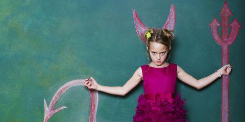 girl satan devil school club