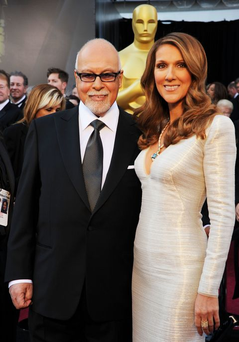 Singer Celine Dion (R) and manager Rene Angelil arrive at the 83rd Annual Academy Awards held at the Kodak Theatre on February 27, 2011 in Hollywood, California.
