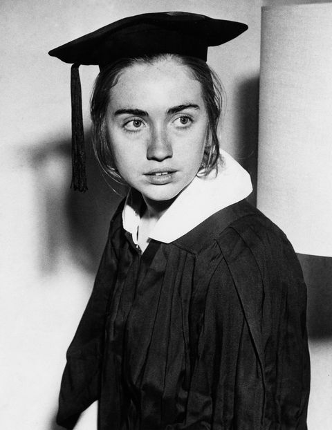 MAY 31: Hillary Rodham Clinton as a Wellesley College senior, May 31, 1969.