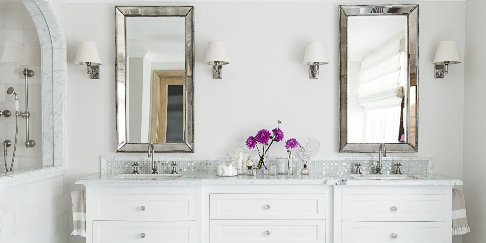 A Few Key Design Choices Can Update The Vibe Of Your Bathroom In A Snap.  Want A Clean, Modern Look? All Over White Does The Trick. Use Colorful  Accents Like ...