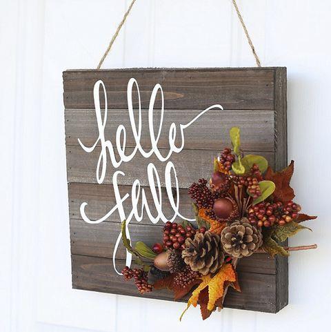 Fall Wreaths - Hello Fall Wreath