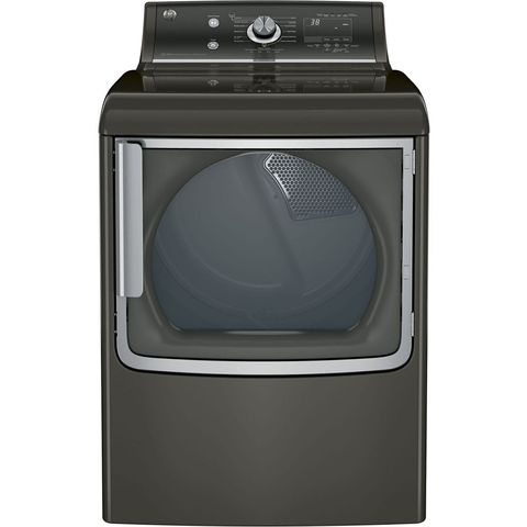 GE 7.8 cu. ft Capacity Gas Dryer with Stainless Steel Drum and Steam, GTD86GSPJMC