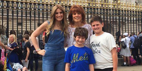 denise albert and family in london