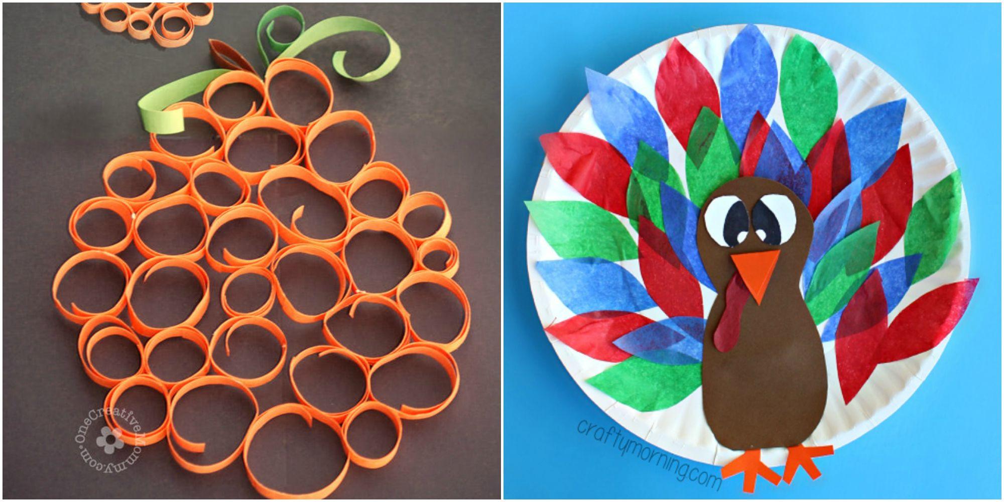Delightful Thanksgiving Craft Ideas Kids Part - 11: 33 Easy Thanksgiving Crafts For Kids - Thanksgiving DIY Ideas For Children
