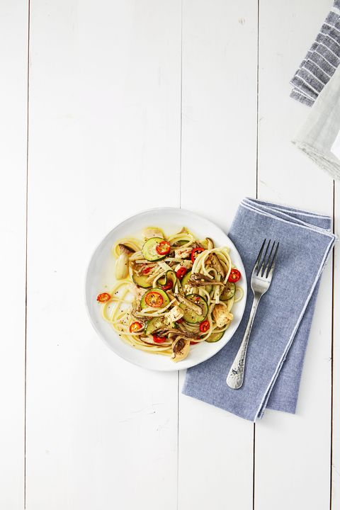 linguine with tuna and chiles
