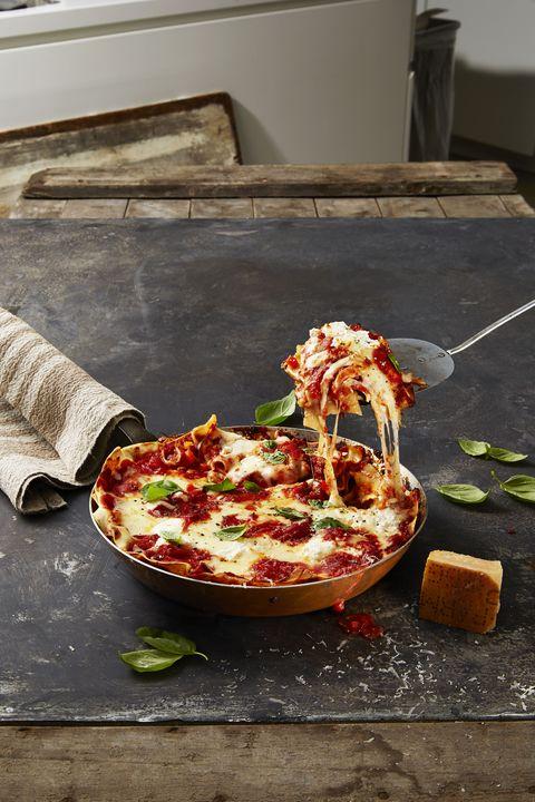 Veggie Skillet Lasagna - Valentine's Day Dinner Ideas