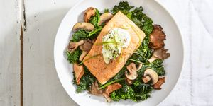 Healthy Salmon Recipes - Salmon with Skyr and Sauteed Kale
