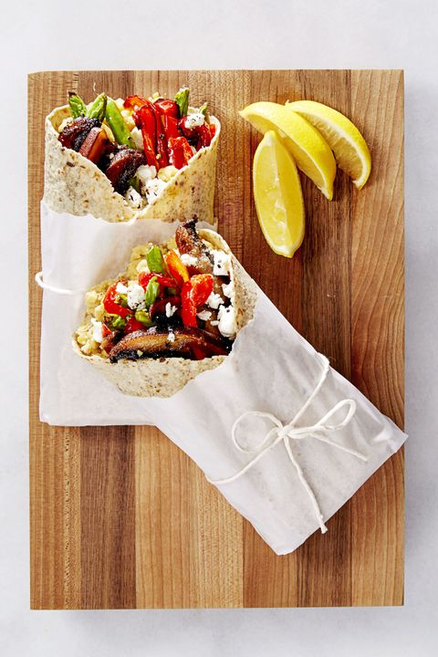 Veggie Wraps with Goat Cheese