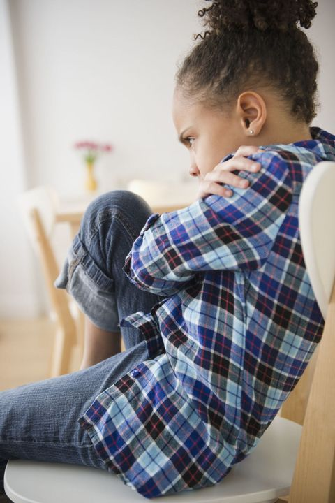 signs of child anxiety: temper tantrums and irritability