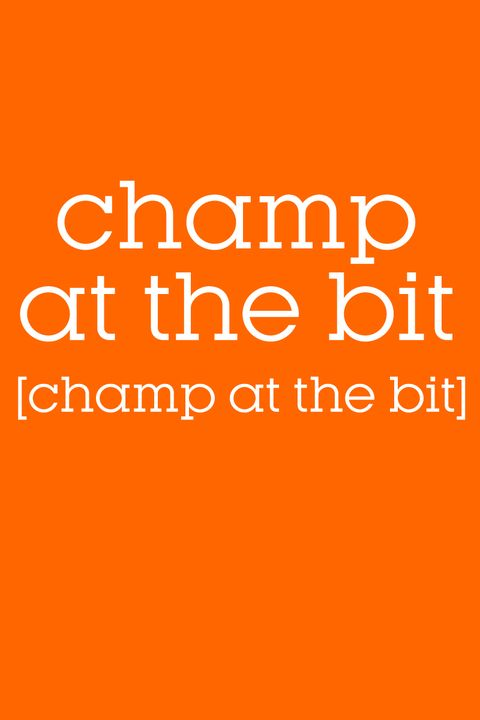 champ at the bit pronunciation
