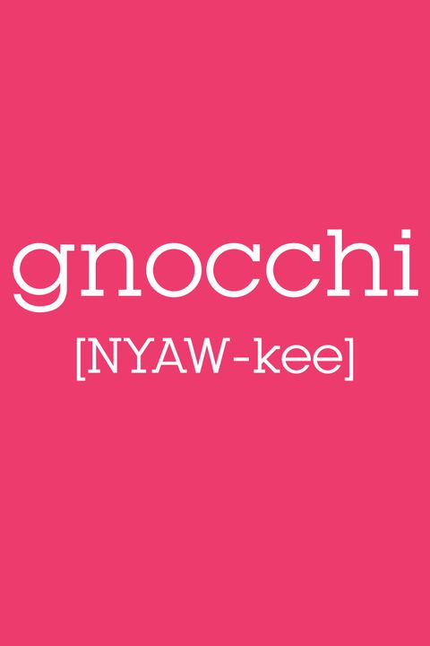 how to pronounce gnocchi