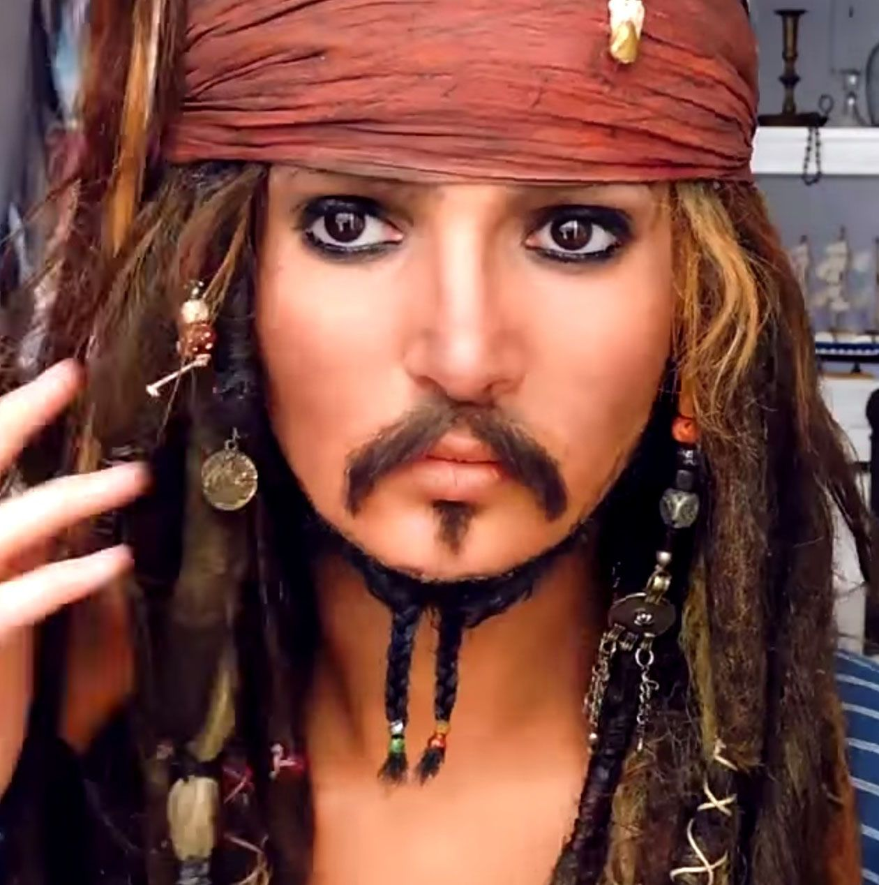 Jack Sparrow Halloween Makeup