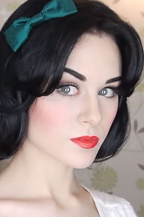 snow white halloween makeup