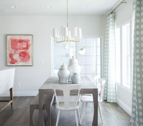 Wood, Room, Interior design, Floor, Furniture, Table, White, Wall, Flooring, Light fixture,