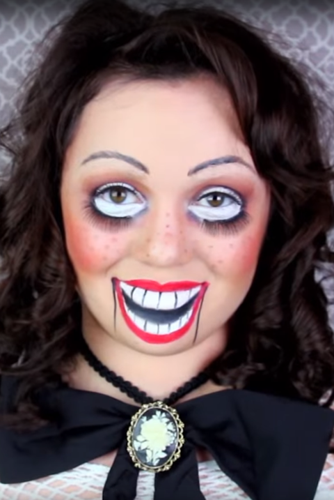 ventriloquist doll halloween makeup