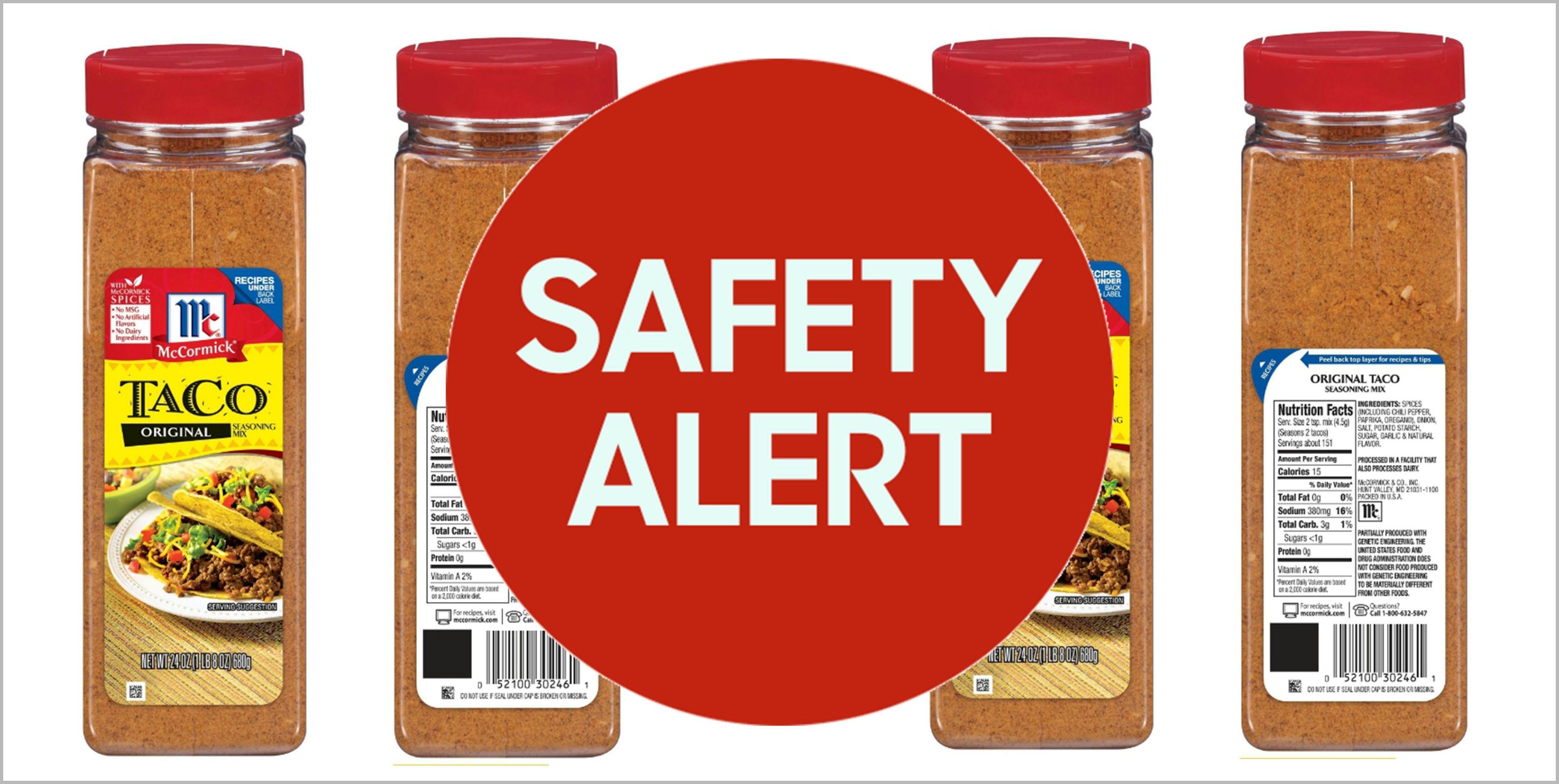 Mccormick Taco Seasoning Recalled Due To Dairy Contamination Mccormick Taco Seasoning Recall