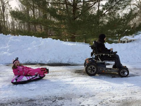 Paraplegic Dad And Daughter