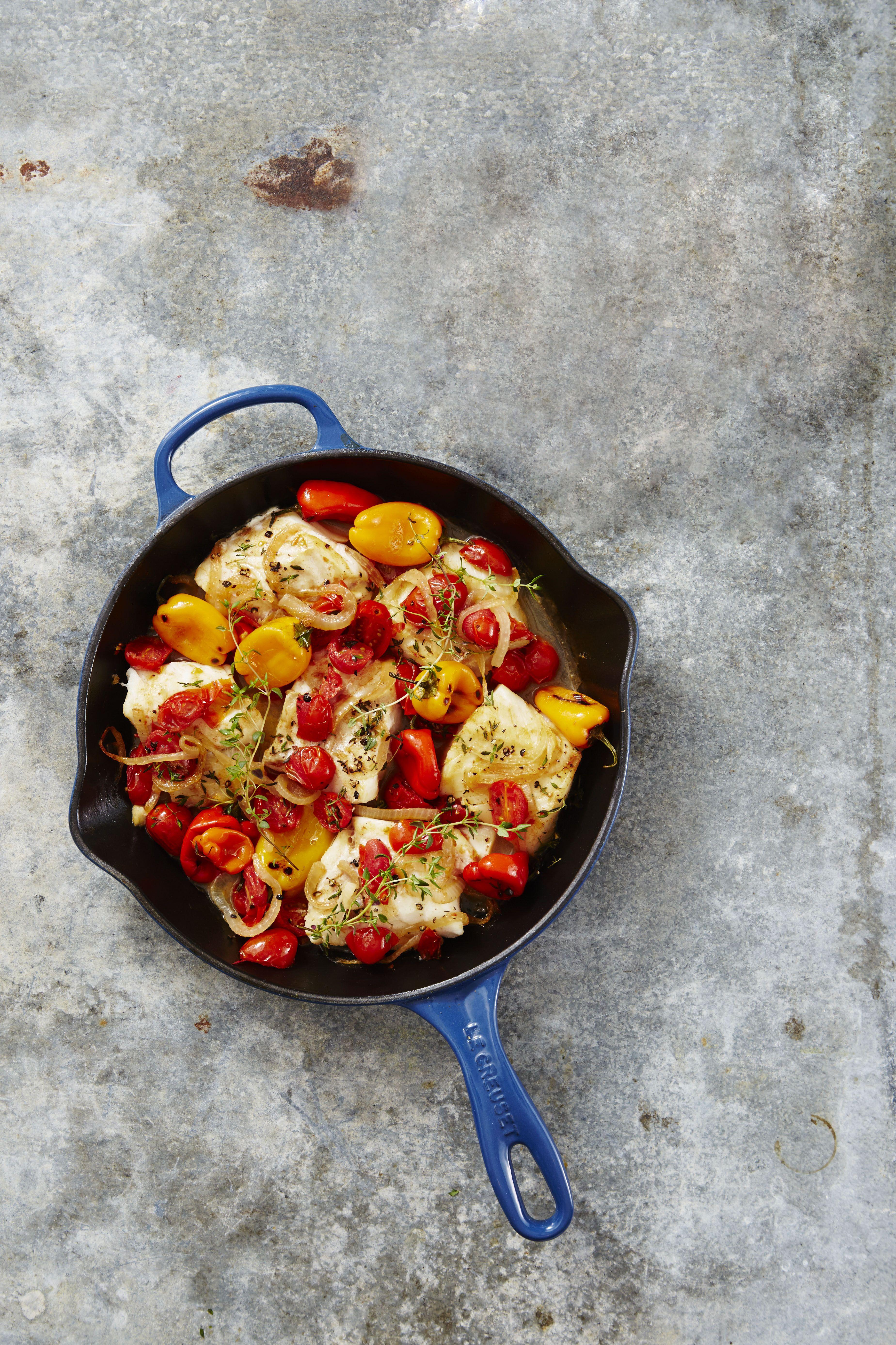 Mediterranean Dinner Party Ideas Part - 38: Mediterranean Baked Cod Recipe