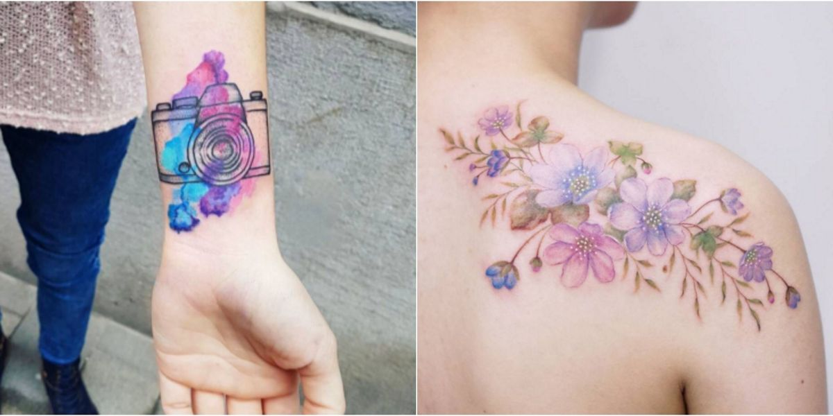 17 Most Beautiful Watercolor Tattoo Ideas Best