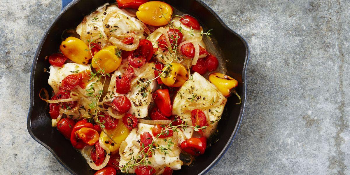 Best Mediterranean Baked Cod Recipe How To Make Mediterranean Baked Cod Goodhousekeeping Com