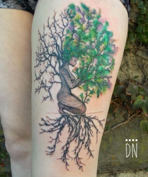 0e54020f8 17 Most Beautiful Watercolor Tattoo Ideas - Best Watercolor Tattoos