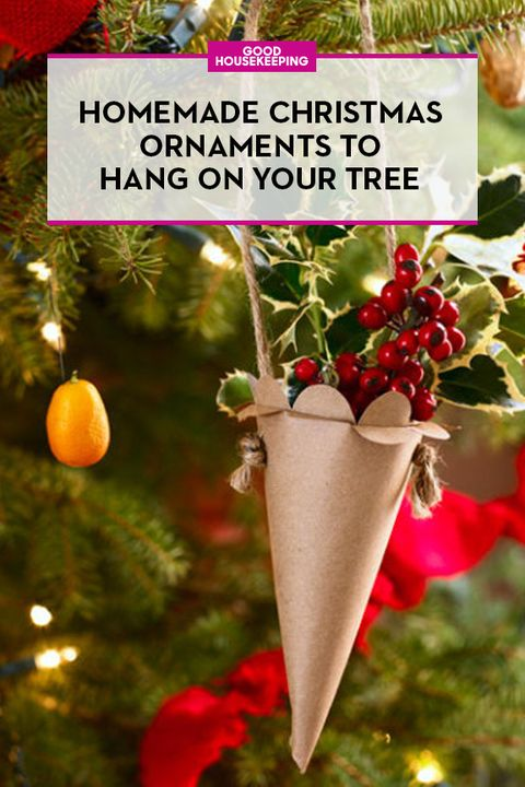 79bfc6e3125 55 Homemade Christmas Ornaments - DIY Handmade Holiday Tree Ornament ...