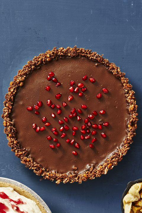 gluten-free chocolate ganache tart / thanksgiving desserts