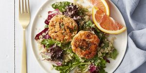 Wild-Salmon Cakes with Quinoa Salad - Mother's Day Dinners