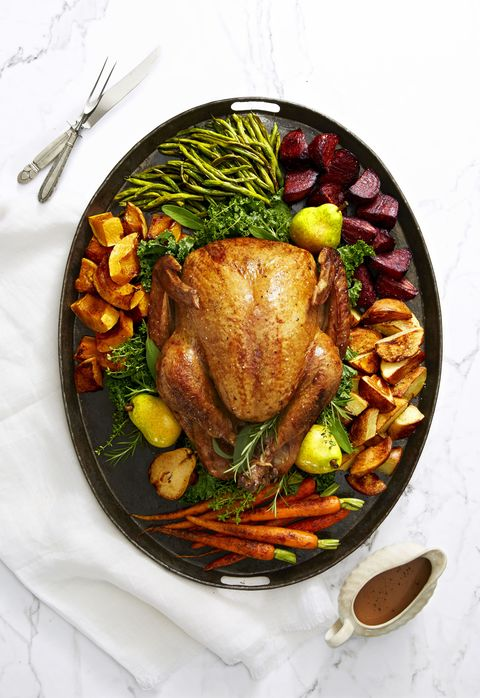 Golden Glazed Turkey And Roasted Pear Gravy