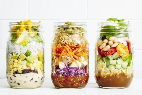 """Burrito """"Bowl"""" Mason Jar Salad Recipe"""